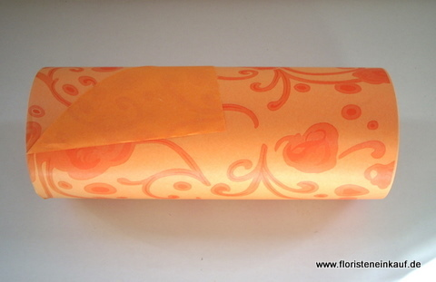 Manschettenpapier, 25m x 100m, Modern Rose,orange