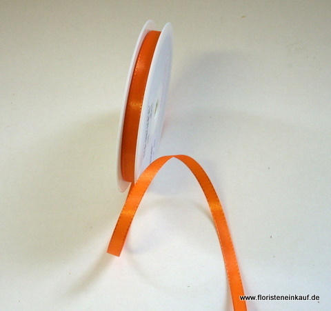 Taftband 8mm x 50m, orange