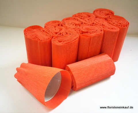 Krepp-Topfmanschetten, 100 Stk., 125 mm, orange