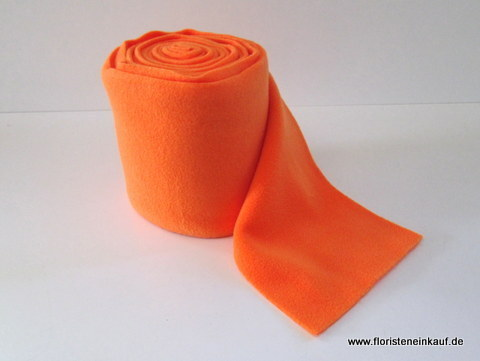 Woll-Filz-Band, Deko Fleece, B 15cm, L 5m, orange