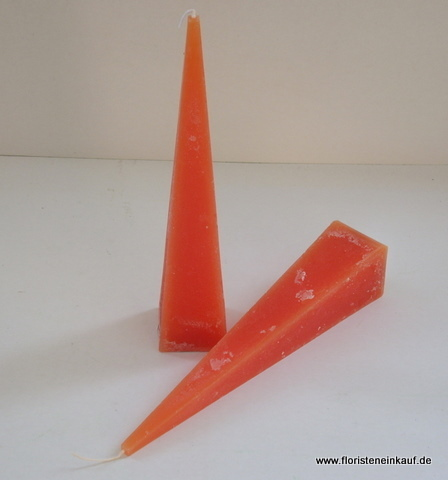 Rustic-Pyramidenkerze, 25cm, orange