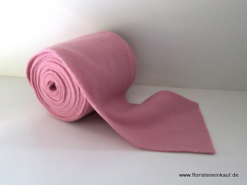 Woll-Filz-Band, Deko Fleece, B=15cm, L=5m, rosa