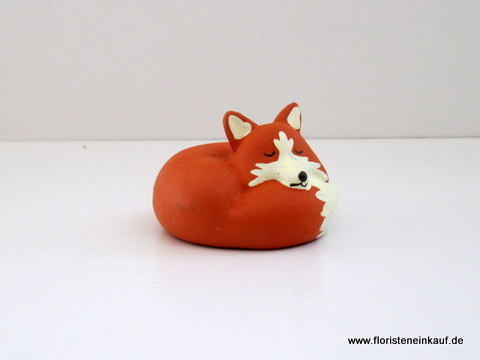 Fuchs, 6 St./Box, 5x5x4cm, orange-weiß