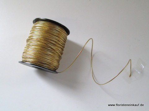 Metallic String, 2mm x20m, gold
