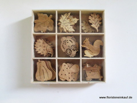 Holz Herbst-Mix Nature, natur, 96 Stck.