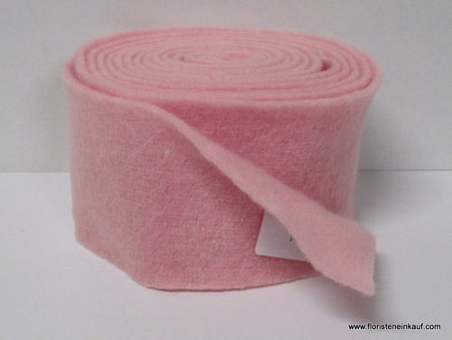 Topfband/Filzband, Wolle, rosa, B 13 cm, L 5 m