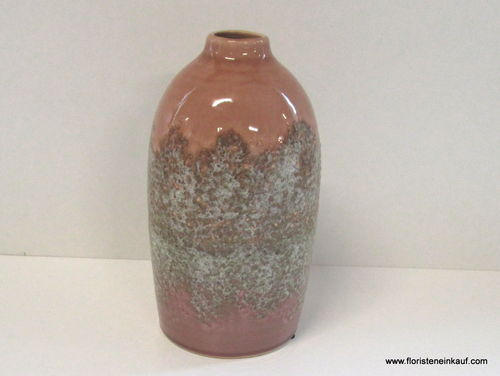 Keramik Vase, light pink, 12,5 x 12,5 x 23 cm